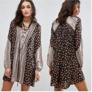 Free People Rain or Shine Mini Peasant Festival XS